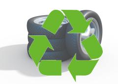 廃タイヤはリサイクルされます